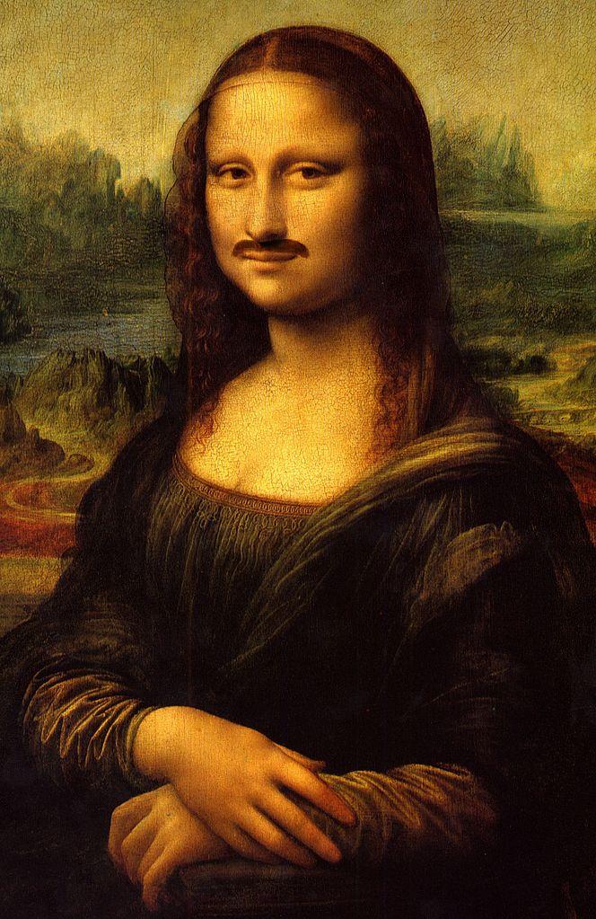 664px-Mona_Lisa_moustache